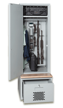 Open Constable Locker with Weapon and Gear Storage